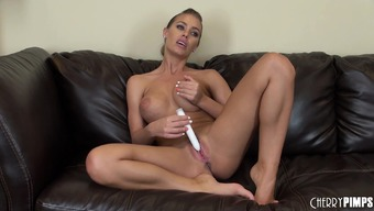 Slight Blonde Milf With The Use Of Big Boobs Nicole Aniston Has Fun Along With A Dildo