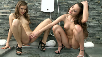 Charming Skinny Lesbians Anita B And Chocolate Absolutely Adore Perform Really Hot Sex In Bed Room