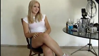 Teenager In Sneakers Along With A Mini Skirts Wishes One To Watch Her Booty