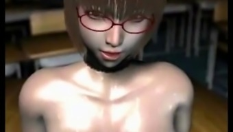 Three-Dimensional Hentai Tutor By Using Big Dairy Products Tits