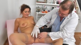 Grow Older Cunt Examined By Horny Gyno