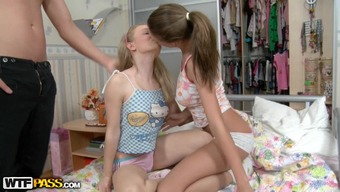 A Couple Of Brown Youngsters Get Such A Rear Ends Crushed Through A Naughty Bf