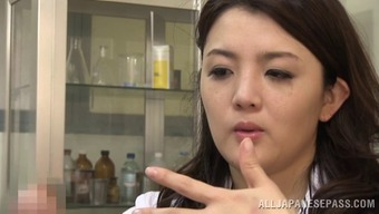 Touching Japanese Health Professional Immediately Drops Deeply In Love With The Set Up Penile Organ