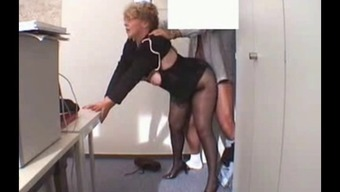 Place Of Work Granny Fucked In Stockings