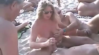 Only A Charming Nudist Shore Mixture Of Attractive Individuals