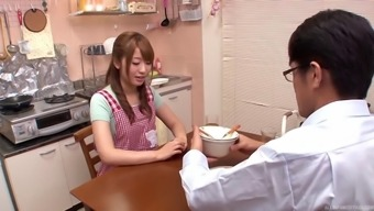 Co-Working Oriental Babes Go Into The Wash Room For Many Lesbian Fun