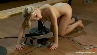 Licking Machinery Makes Ashley Fires Think In Bliss