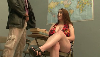 Busty Blond In College Blows Penis Of Their Teacher