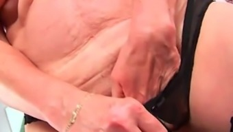 Grandma'S Large Tits And Succulent Pussy