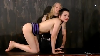 Docile Blond Whipped By Her Gurus Among The Dungeon