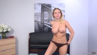 Kagney Linn Karter Toying Her Twat While Porno Dan Is Fucking Her Booty
