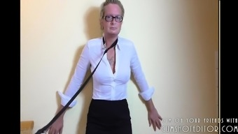 Pissing And Ass-Fisting Meek Milf Slave