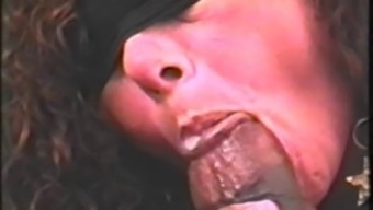 Blindfolded Wife Swallows Dark Colored Sperm #2
