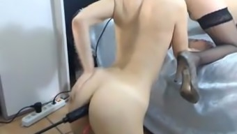 Lesbians Defeat Pussy Machinery Fucked Within The Stupid Ass Rectum