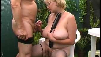 Dutch Granny Trips The Backyard As A Way To Get Definitely Kinky There Actually