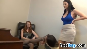 Good Leg Person Who Serves Will Get A Pantyhose Footjob In Exchange