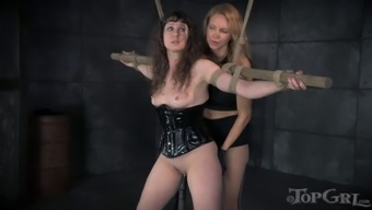 Mistress With A Strap-On Penetrates The Beaver Of The Victim