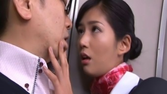 Remarkably Succulent Japanese People Stewardess Gets Lost Extreme While You Are On-Board