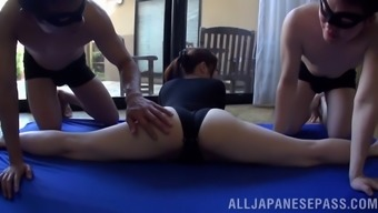 Flexible Oriental Gal Will Get A Secret Yoga Message With A Pleased End