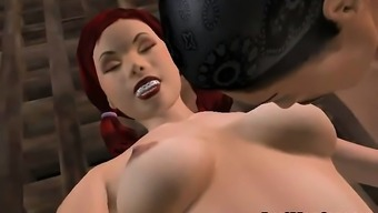 Horny Visual Redhead Infant Gets Tied Up And Fucked Complicated