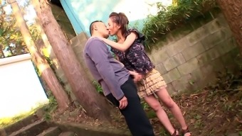 Big Tits Japanese People Pornstar Swallows Ejaculation After Supplying A Tit Task Outdoors