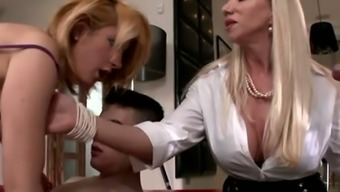 Great Proficient Milf And Wanton Hooker Satisfaction A Pair Of Guys With The Use Of Good Sexual Contact