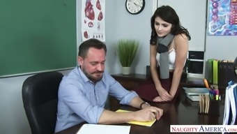 Hypnotically Attractive Adria Rae Supplied Sex To Her Tutor For Good Degrees