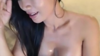 Attractive Blond Milf Asian Petting On Digicam