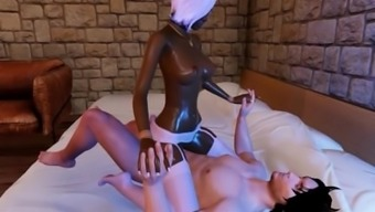 Beautiful Black Scene Date Rides An Important White Cock!