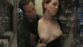 Bodacious Blonde By Using Tiny Sprightly Tits Gets Punished In Government Departments Spot