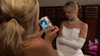 Lena Nicole Seduces A Stunning Bride To Be To Get Within A Wedding Dress