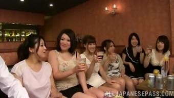 With A Community A Bunch Of Japanese People Females Has Association Sex By Using Alien Males