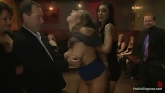 Two Lovely Chubby Females Get Fucked By The Group Of Guys And Enjoy It