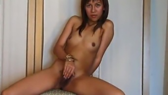 Latina Along With Smallish Tits Kissing Her Boyfriend'S Penis While They Played Together Pussy