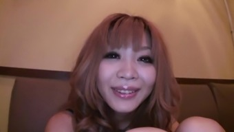 Japanese People Harlot Gets Her Hairy Muff Licked By Her Man