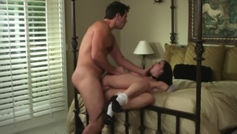 Lovely Maid With The Use Of Long Darkish Fur Enjoying A Amazing Missionary Design Fuck