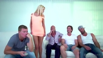Excellent Blondhead Victoria True Could Easily Please Two Intense Cocks (Fmm)
