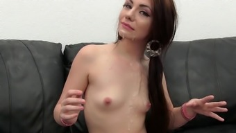 Smallish Tits Sandy Getting Face Cumshot After Gorgeous