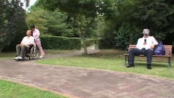 Subtitled Weird Japanese People Half Naked Sitter Outdoor
