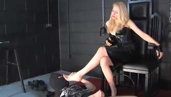Blond Latex Mistress Your Clients Looking At You Cock 02