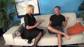Definitely Set Hooker In Stockings Get Fucked Inside A Clammy Doggystyle Cause