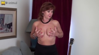 Usa Senior Mother Strips First And Plays With The Dollhouse