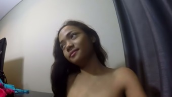 Charming Fine Brunette Teenager Shows Off Her Small Asian Tits And Booty