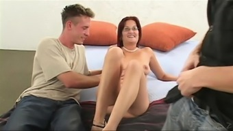 Cute Hooker Being Intimate With Cock And Gets Her Pussy Fucked In Threesome