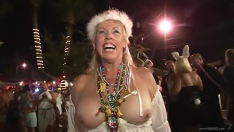Andy Babes At Mardi Gras Party Firing Butt And Titties