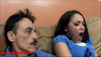 Miniscule Oriental Teenager Small Pussy Gets Defective By Filthy Old Adult Man And Gets Grandpa Sperm In Her Your Mouth