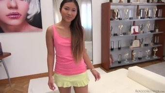 Oriental Elegance With A Pierced Pussy May Thai Gets Double Entered
