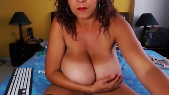 Substantial Titties Mature Will Try On 2-Piece Swimsuit