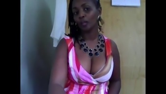 West African Milf In Place Of Work On Camera