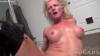 Strong Cougar Mandy Foxx Is Masturbating In Attractive Boots
